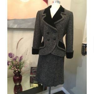 Givenchy Velvet Tweed Skirt Suit 1537-151-92419